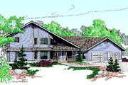 House Plan - 3 Beds 2.5 Baths 2712 Sq/Ft Plan #60-192 Exterior - Front Elevation