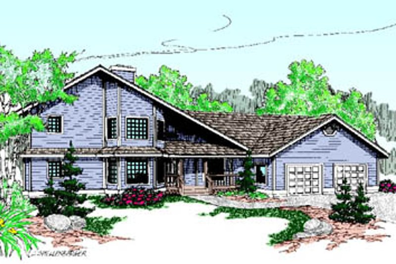 Dream House Plan - Exterior - Front Elevation Plan #60-192