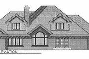 European Style House Plan - 5 Beds 3.5 Baths 3443 Sq/Ft Plan #70-517 Exterior - Rear Elevation