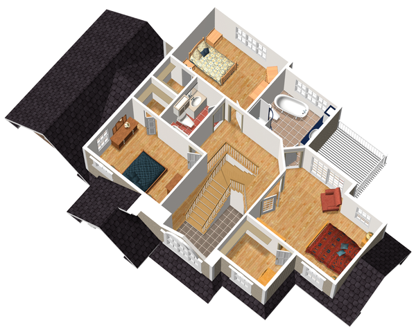 Traditional Floor Plan - Upper Floor Plan #25-4716