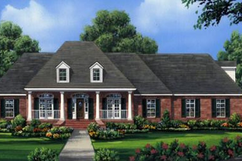 Traditional Style House Plan - 4 Beds 3 Baths 2491 Sq/Ft Plan #21-273 Exterior - Front Elevation
