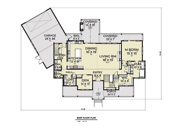 Architectural House Design - Farmhouse Floor Plan - Main Floor Plan #1070-135