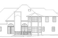 Classical Exterior - Rear Elevation Plan #119-245