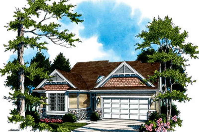 Craftsman Exterior - Front Elevation Plan #48-286