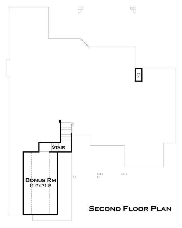 Craftsman Floor Plan - Upper Floor Plan Plan #120-180