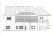 Architectural House Design - Farmhouse Exterior - Rear Elevation Plan #437-126