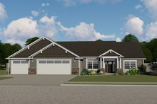 Ranch Exterior - Front Elevation Plan #1064-43