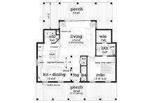 Cottage Floor Plan - Main Floor Plan Plan #45-581