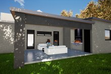 Contemporary Exterior - Rear Elevation Plan #17-3385