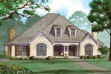 Home Plan - European Exterior - Front Elevation Plan #923-79