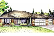 Dream House Plan - Ranch Exterior - Front Elevation Plan #124-833