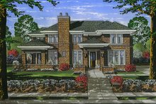 Home Plan - Traditional Exterior - Front Elevation Plan #46-870