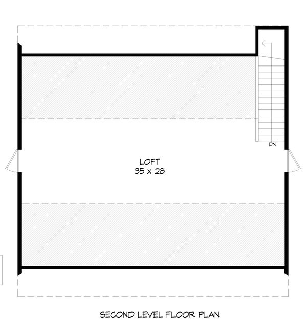Farmhouse Floor Plan - Upper Floor Plan #932-75