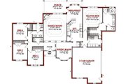 Traditional Style House Plan - 4 Beds 2.5 Baths 2415 Sq/Ft Plan #63-207 Floor Plan - Main Floor Plan