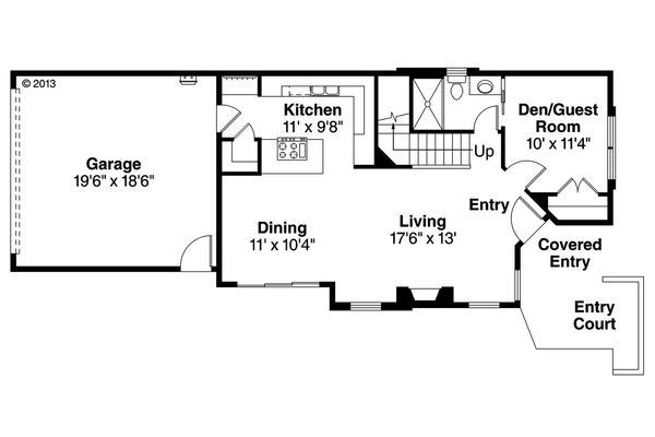 Modern Floor Plan - Main Floor Plan Plan #124-922