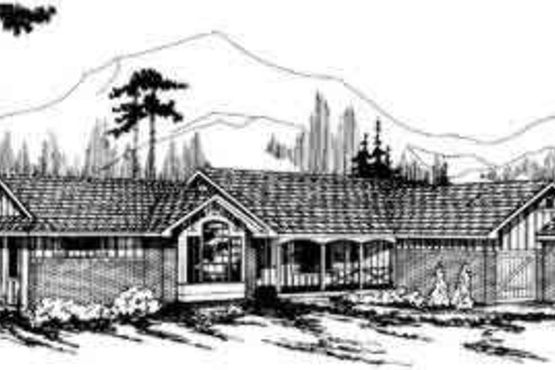 Ranch Exterior - Front Elevation Plan #124-127