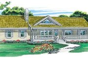 Ranch Style House Plan - 3 Beds 2 Baths 1408 Sq/Ft Plan #47-331 Exterior - Front Elevation