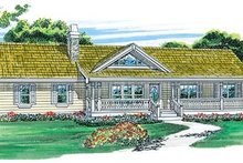 House Blueprint - Ranch Exterior - Front Elevation Plan #47-331