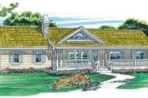 Ranch Exterior - Front Elevation Plan #47-331