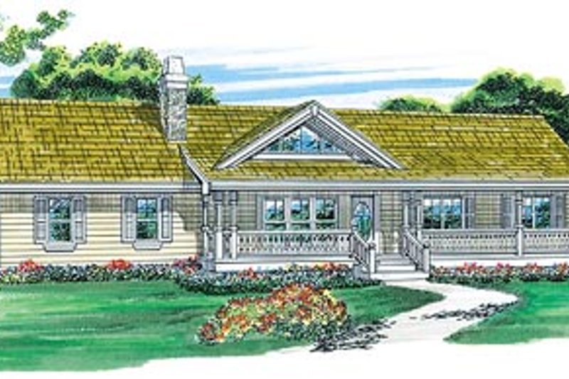 Dream House Plan - Ranch Exterior - Front Elevation Plan #47-331