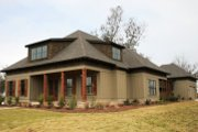 Farmhouse Style House Plan - 5 Beds 4 Baths 3610 Sq/Ft Plan #37-227 Exterior - Front Elevation