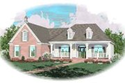 Southern Style House Plan - 3 Beds 2.5 Baths 2839 Sq/Ft Plan #81-162 Exterior - Front Elevation