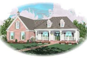Southern Exterior - Front Elevation Plan #81-162