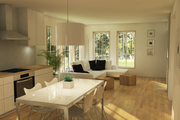 Modern Style House Plan - 2 Beds 1.5 Baths 1340 Sq/Ft Plan #914-5