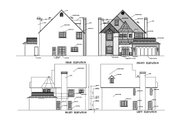 European Style House Plan - 3 Beds 2.5 Baths 2546 Sq/Ft Plan #1-579 Exterior - Other Elevation