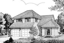 European Exterior - Front Elevation Plan #410-317