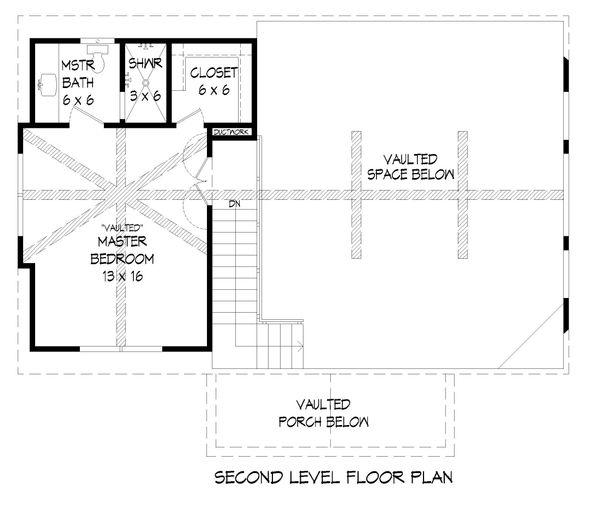 Country Floor Plan - Upper Floor Plan Plan #932-39