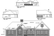 Southern Style House Plan - 4 Beds 2.5 Baths 2187 Sq/Ft Plan #56-168 Exterior - Rear Elevation