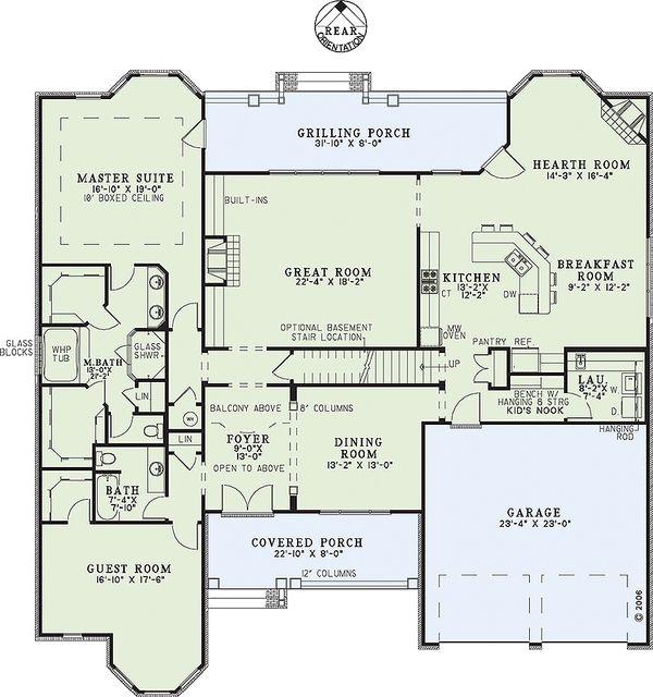European Floor Plan - Main Floor Plan Plan #17-2306