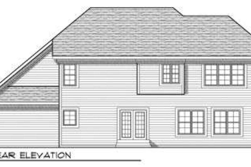 Traditional Exterior - Rear Elevation Plan #70-705 - Houseplans.com