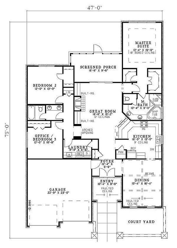 European Floor Plan - Main Floor Plan Plan #17-110