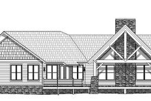 Cabin Exterior - Rear Elevation Plan #932-288