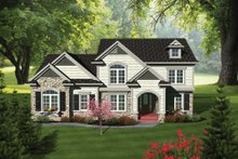 Dream House Plan - Traditional Exterior - Front Elevation Plan #70-1089