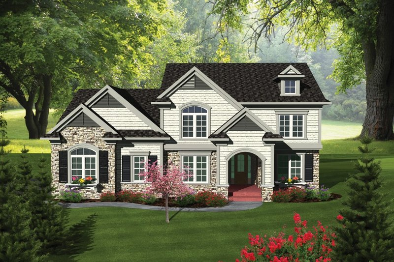 Traditional Exterior - Front Elevation Plan #70-1089 - Houseplans.com