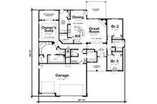 Traditional Floor Plan - Main Floor Plan Plan #20-2078