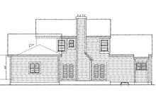 Home Plan Design - Colonial Exterior - Rear Elevation Plan #3-253