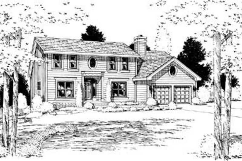 Colonial Exterior - Front Elevation Plan #20-563 - Houseplans.com