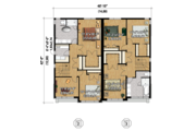 Contemporary Style House Plan - 5 Beds 2 Baths 3385 Sq/Ft Plan #25-4396