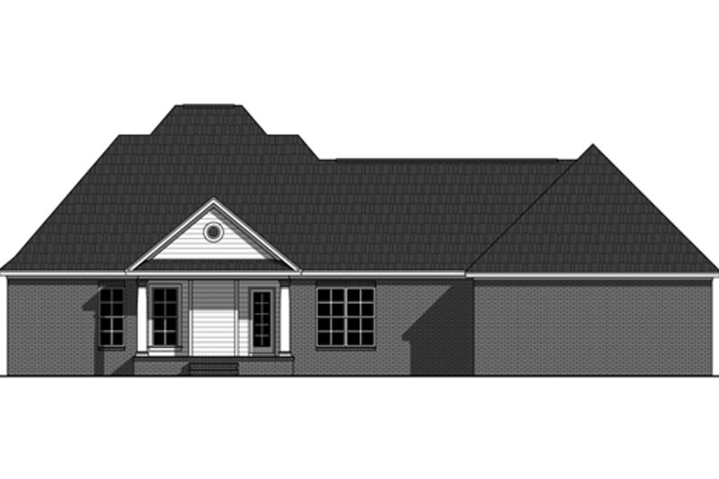 Southern Exterior - Rear Elevation Plan #21-333 - Houseplans.com