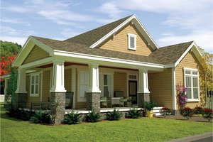 Dream House Plan - Craftsman Exterior - Front Elevation Plan #991-29