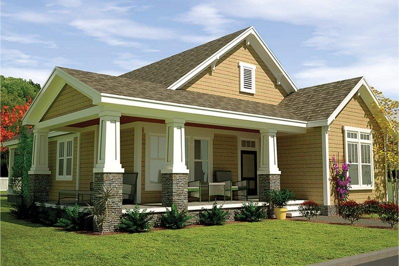 Architectural House Design - Craftsman Exterior - Front Elevation Plan #991-29