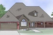 Country Exterior - Front Elevation Plan #5-118