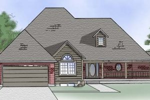 Home Plan - Country Exterior - Front Elevation Plan #5-118