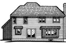 House Plan Design - Traditional Exterior - Rear Elevation Plan #20-536