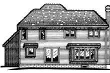 Dream House Plan - Traditional Exterior - Rear Elevation Plan #20-536