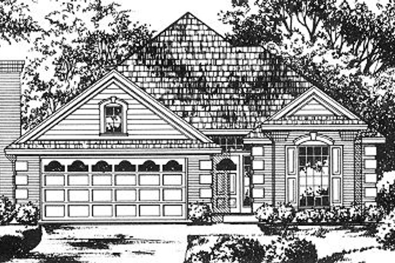 Cottage Exterior - Front Elevation Plan #40-381